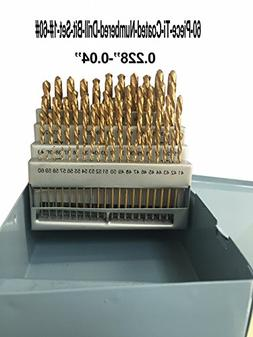 LLDSIMEX 60 Piece 1#-60# Titanium Nitride Coated Numbered Dr