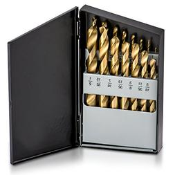 Neiko 10037A Left Hand Drill Bit Set, 15 Piece | M2 HSS With