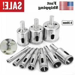 10x Diamond Drill Bit Hole Maker Glass Ceramic Tile Saw Cutt