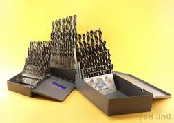 Drill Hog 115 Pc Master Drill Bit Set 3 Cases Letter Number