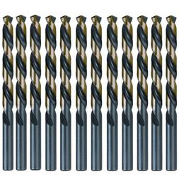 5/32 Inch Black and Gold High Speed Steel Jobber Drill Bits