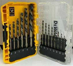 14 Pieces Set Black Oxide Drill Bit Set DWA1184 001 DEWALT