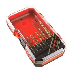 15 Piece Steel Drill Bit Set in Case 1/4 Inch and Smaller Wo