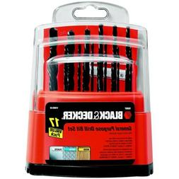 BLACK+DECKER 15097 Workbench Drill Bit Set, 17-Piece