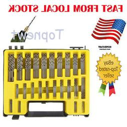 150Pc Drill Bit Micro 0.4-3.2mm Twist Set Kit Precision HSS