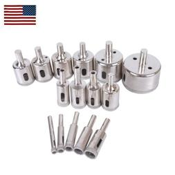15pcs Diamond Drill Bit Set 6mm-50mm Tile Marble Glass Ceram