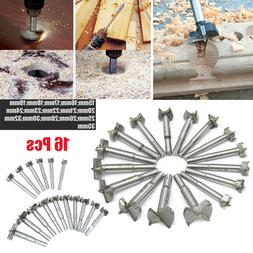 16 Pcs Cemented Carbide Forstner Drill Bits Woodworking Bori