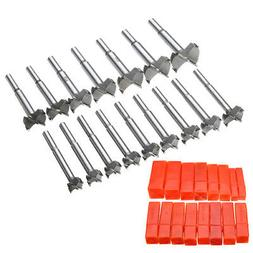 16X Forstner Woodworking Drill Bit Set Boring Hole Saw Cutte