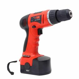 18-Volt Max Batteries Drill Adjustable Speed Electric Cordle