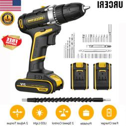 21V Cordless 2 Speed Electric Screwdriver Drill Driver with