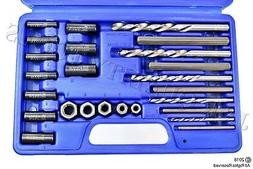 25pc Screw Extractor Drill & Guide Set Extracts Broken Screw