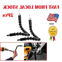 2pc Flexible Shaft Bits Extention Screwdriver Drill Bit Hold