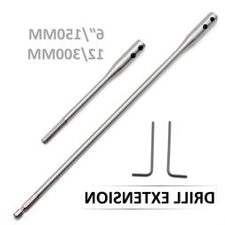 """2PC Drill Bit Extension Bar 12"""" 6"""" Paddle Bits or any 1/4"""" s"""