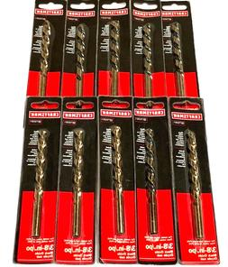 "Craftsman 3/8"" Drill Bits High Speed Steel 10 Pack"