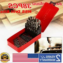 38 PCS DRILL BIT SET HSS METRIC M35 COBALT HSS  STEEL HIGH S