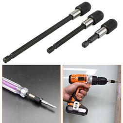 """3x Magnetic Screwdriver Extension Quick Release 1/4"""" Hex Sha"""