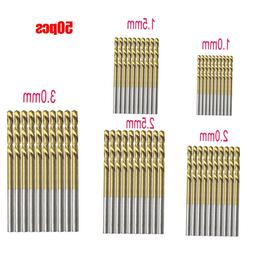50Pcs Titanium Coated HSS <font><b>High</b></font> <font><b>