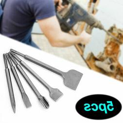 5PC SDS Plus Rotary Hammer Bits Drill Bit & Chisel Groove Co