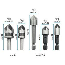 5pcs countersink drill bit set counter sink