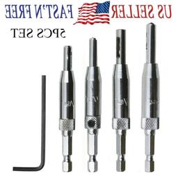 5PCS SET Door Self-centering Hinge Hole Opening Drill Bit Tw