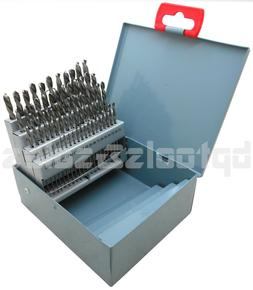 60pc DRILL BIT SET M2 HSS HIGH SPEED STEEL BITS NUMBERED #1-
