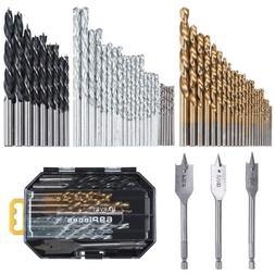 HARVET 69-Piece Drill Bit Set for Metal Wood Masonry Plastic