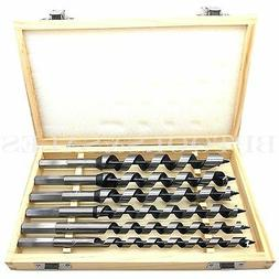 "6pc 9"" Auger Bits Drill Set Woodworking Drill Industrial Bit"