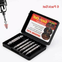 6Pcs/Set Screw Extractor Kit Broken Damaged Bolt Remover Spe