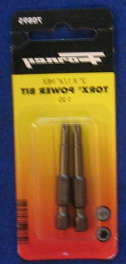 Forney 70895 Power Bit Torx - T20 x 2 Inch - 2 Pack