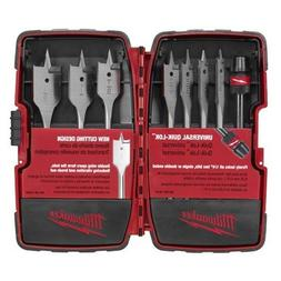 Milwaukee 8-pc. Flat Boring Bit Kit - 49-22-0175
