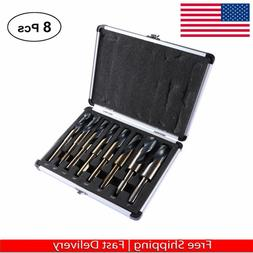 8 pc Jumbo Silver and deming Industrial Cobalt drill bit set