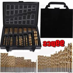99pcs Titanium Coated 1.5mm - 10mm Steel HSS High Speed Dril