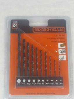 Black & Decker 15557C 10 Piece Drill Bit Set