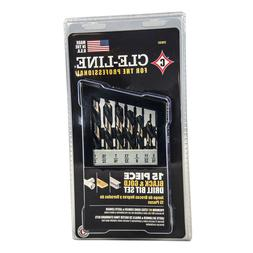 CLE-LINE Black and Gold High Speed Drill Bit Set  C18131 FRE