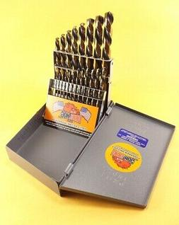 Drill Hog® USA 21 Pc Drill Bit Set Metal Hi-Molybdenum M7 M