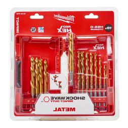 Milwaukee 48894760 HSS-G Titanium Drill Set For Metal 19 Pie