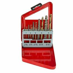Neiko 01925A Screw Extractor and Left Hand Drill Bit Set, 10