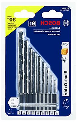 Bosch 9 Piece Black Oxide Impact Tough Drill Bit Set BL9IM