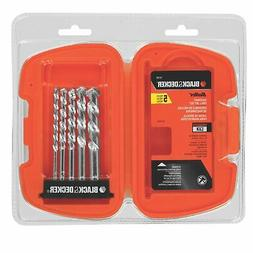 Black & Decker 16748 5-Piece Bullet Speed Tip Masonry Drill