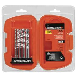 BLACK+DECKER 16748 Bullet Rotary Masonry Drill Bit Set, 5-Pi