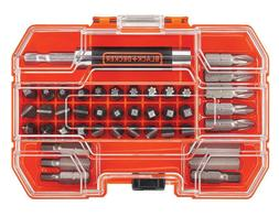 BLACK+DECKER 42-Piece Standard Screwdriver Bit Set for House