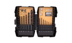 Bostitch 14-Piece Black Oxide Drill Bit Set, BSA1S14BM