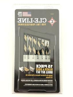 *BRAND NEW* CLE-LINE Black and Gold High Speed Drill Bit Set