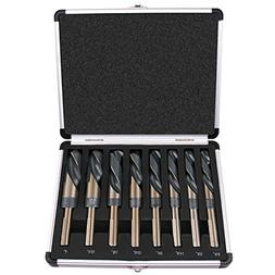 "Best Choice 8-Piece 1/2"" Shank Silver and Deming Drill Bit"