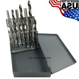 Cle Line 18pc Hand Tap & Drill Set NC 6-32 to 1/2-13 with In