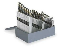 CLE-LINE C21162 Mechanics Drill Set, 29 PC, HSS, 135 Deg