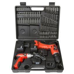 Stalwart 74-Piece Combo 12-Volt Cordless Drill and 3.6-Volt