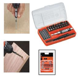 Screwdriver And Drill Bit Set compact Case 45 Piece For Vari