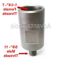 "Core Drill Bit Adapter: 5/8""-11 Threaded Male to 1-1/4"""
