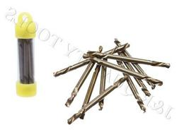 "10pc 1/8"" Double Ended Cobalt M35 Drill Bit Set"